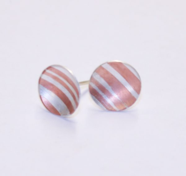 Silver Jewellery Mokume Earrings