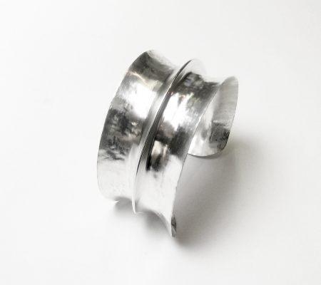 Silver foldfroming bracelet