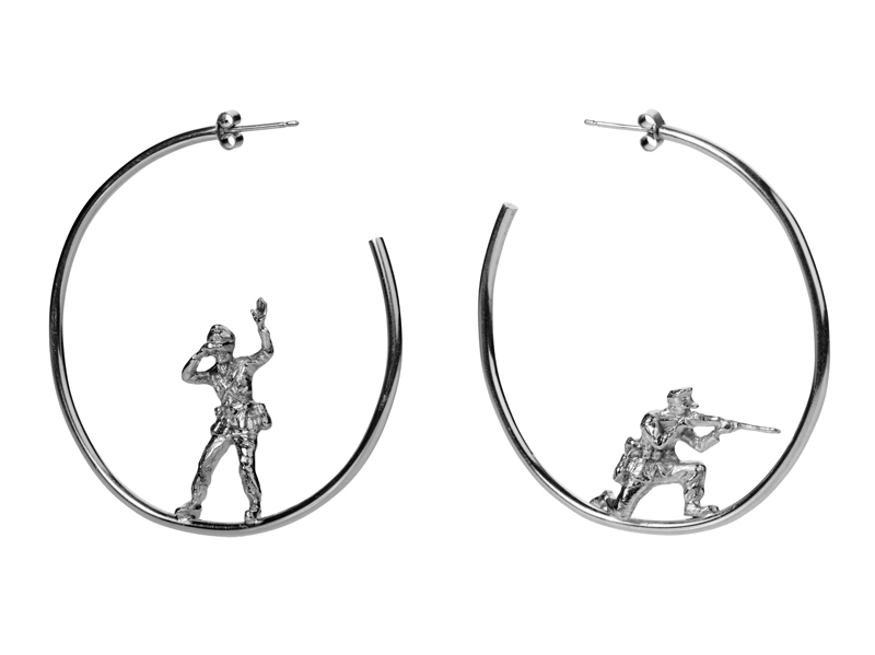DCrow soldiers earrings lookout