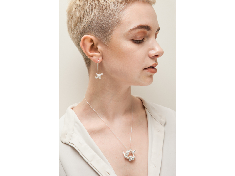 Sally V earring, pendant model