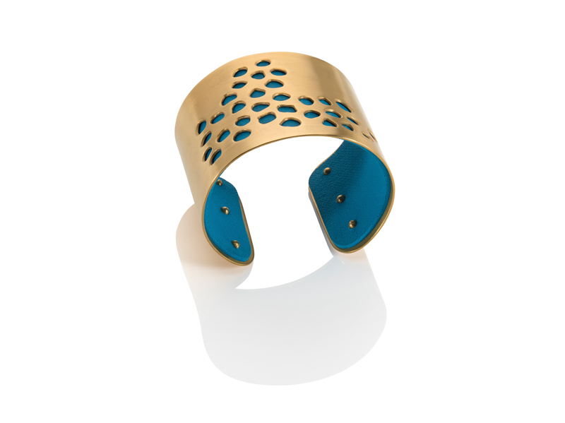 Sonya C absence cuff gold blue