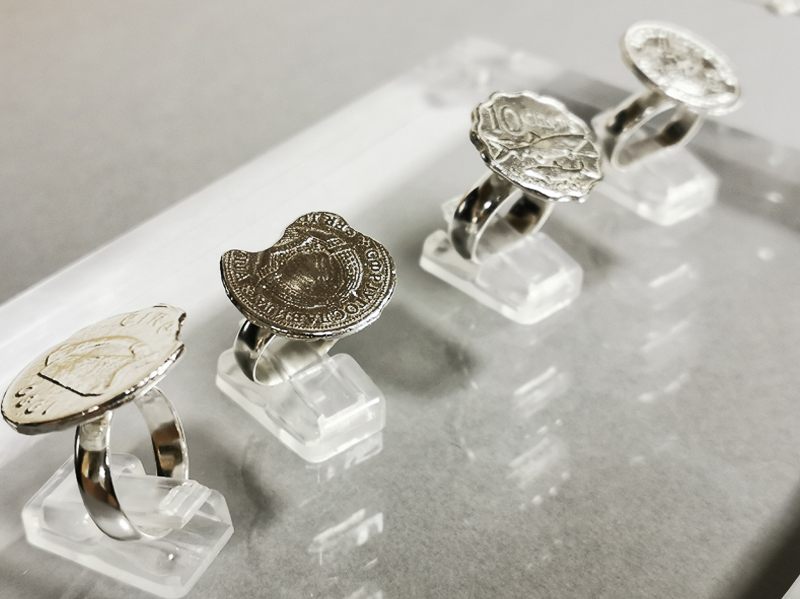 silver-cast-rings-coins-jewellery-course-london