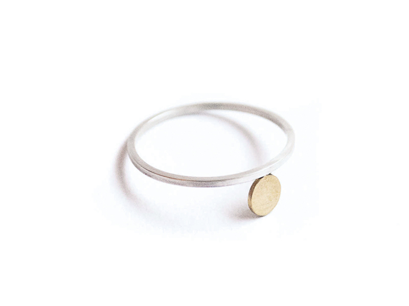 Silver-gold-ring-silver-jewellery-course-london