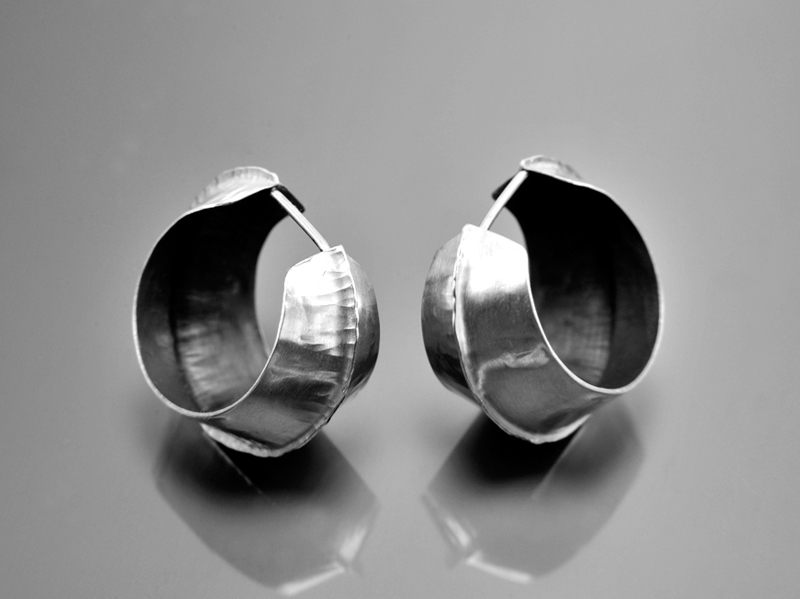 fold-forming-earrings-silver-jewellery-course-london